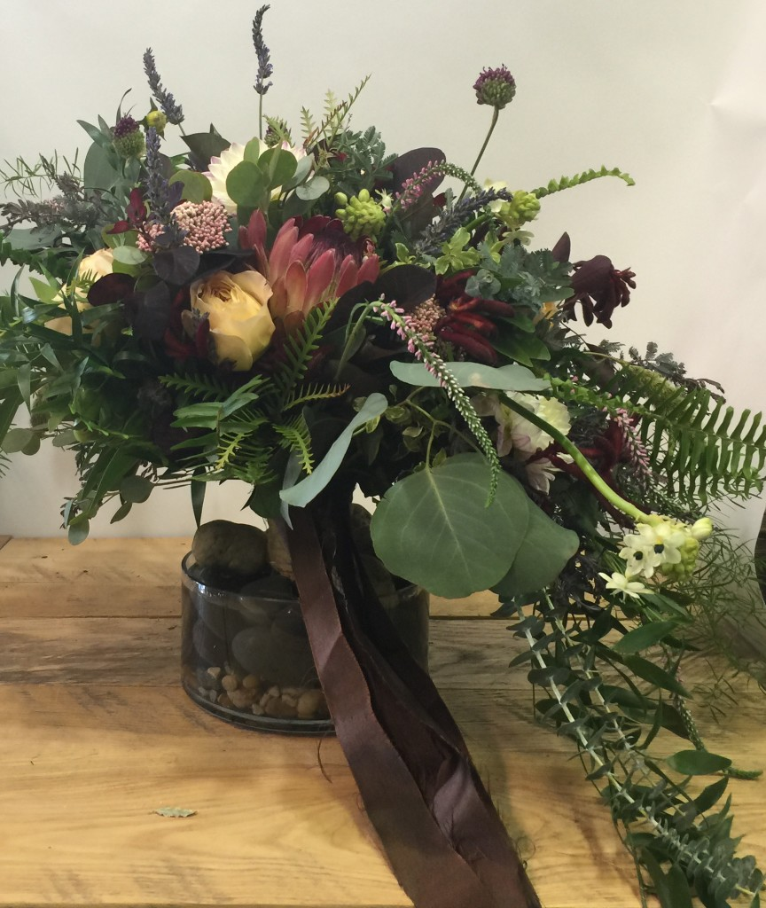 Created by one of the Floral Designers at Petals and Leaves for the Cultivate16 Floral Design Competition- Bouquet Category