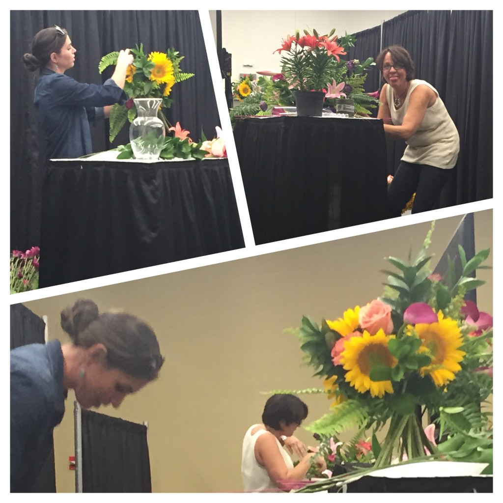 The Ladies at Petals and Leaves on stage during the Cultivate16 Top 5 Design Off